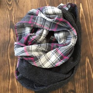 🦅 aerie - Knit and Not Scarf - Pink and Grey